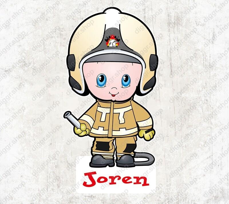 Geboortekaartje Brandweerman 2017 (1016)