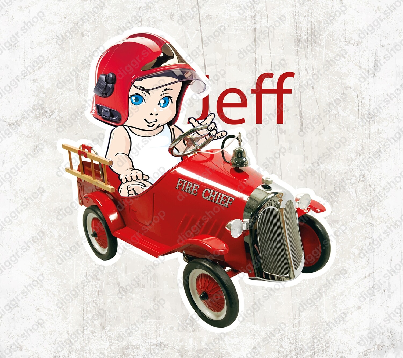 Geboortekaartje Brandweertrapauto (1017)