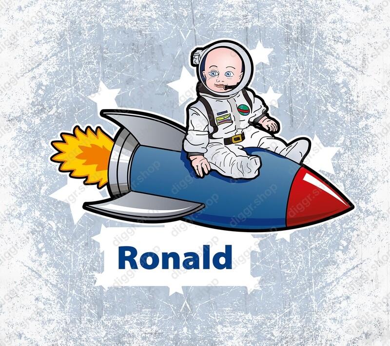 Geboortekaartje Astronaut 3 (1010)