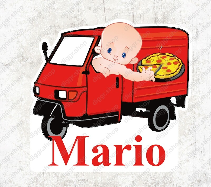 Geboortekaartje Pizzabezorger (1030)