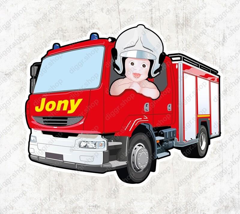 Geboortekaartje Brandweerwagen (1018)