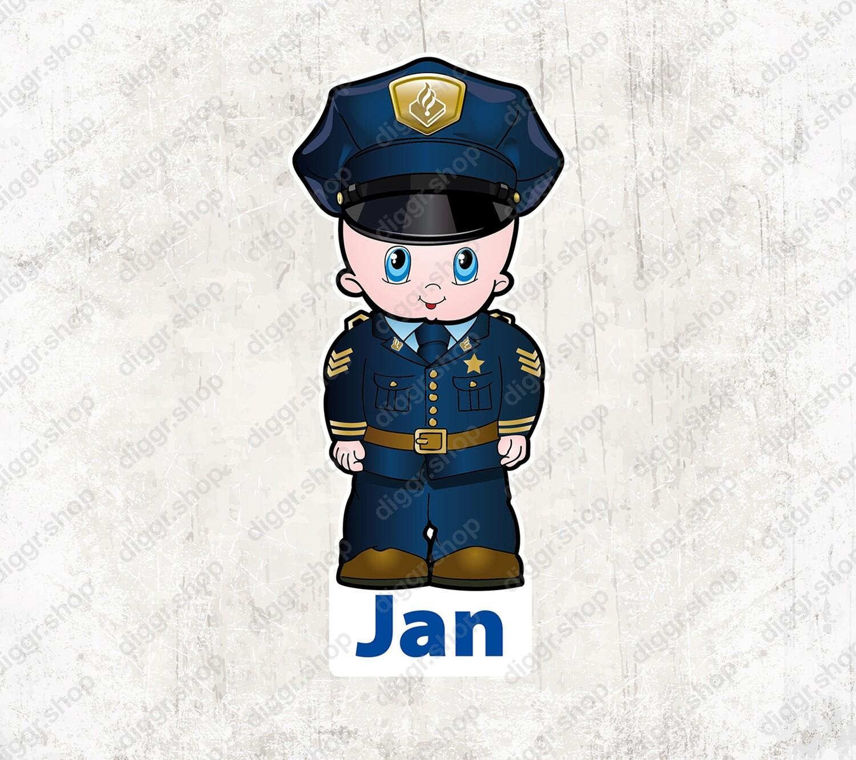 Geboortekaartje Politieagent NL (1034)
