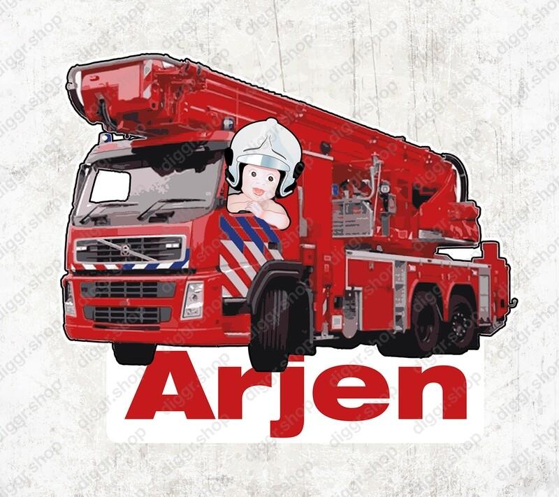 Geboortekaartje Brandweerladderwagen NL (1024)