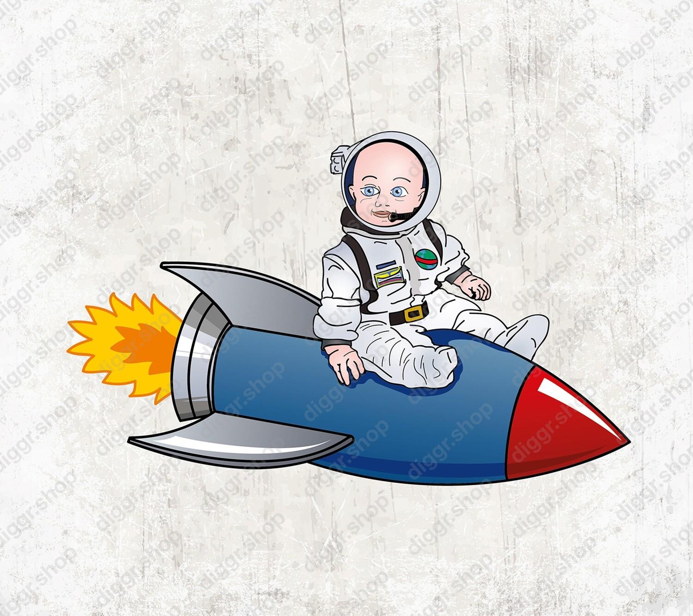 Geboortekaartje  Astronaut 22 (1008)