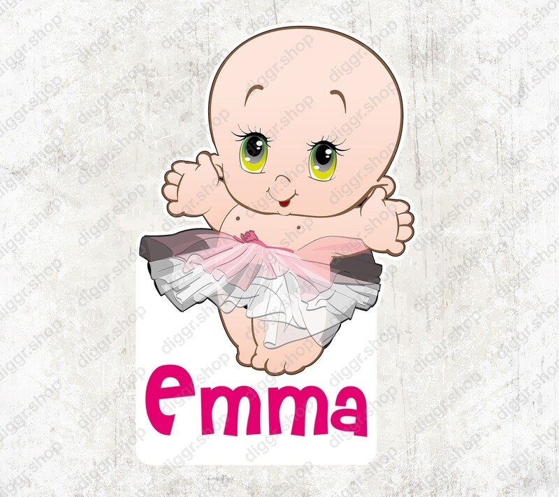Geboortekaartje Prima ballerina (1035)