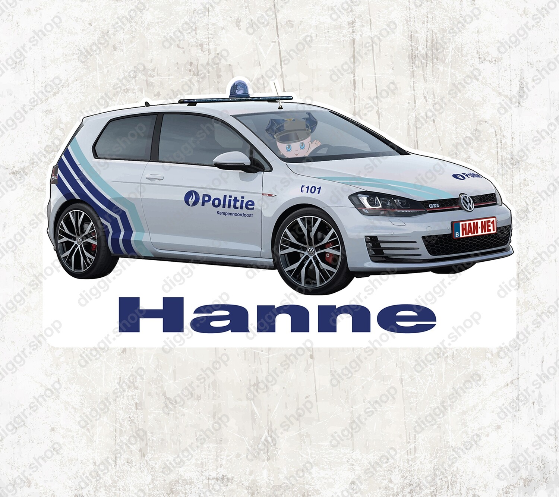 Geboortekaartje VW Golf GTI Politie (1051)