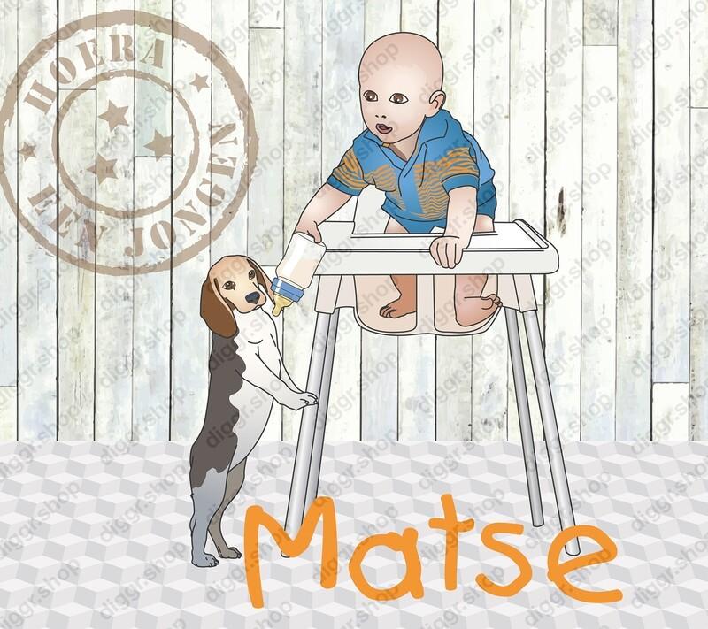 Geboortekaartje Hondje papfles (321)