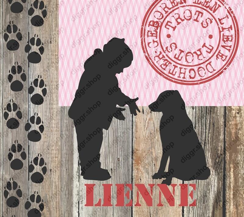 Geboortekaartje Kind & hond (340)