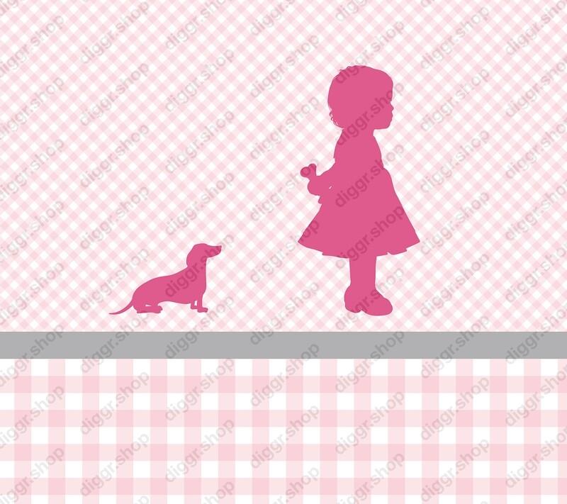 Geboortekaartje Meisje & hond II (369)