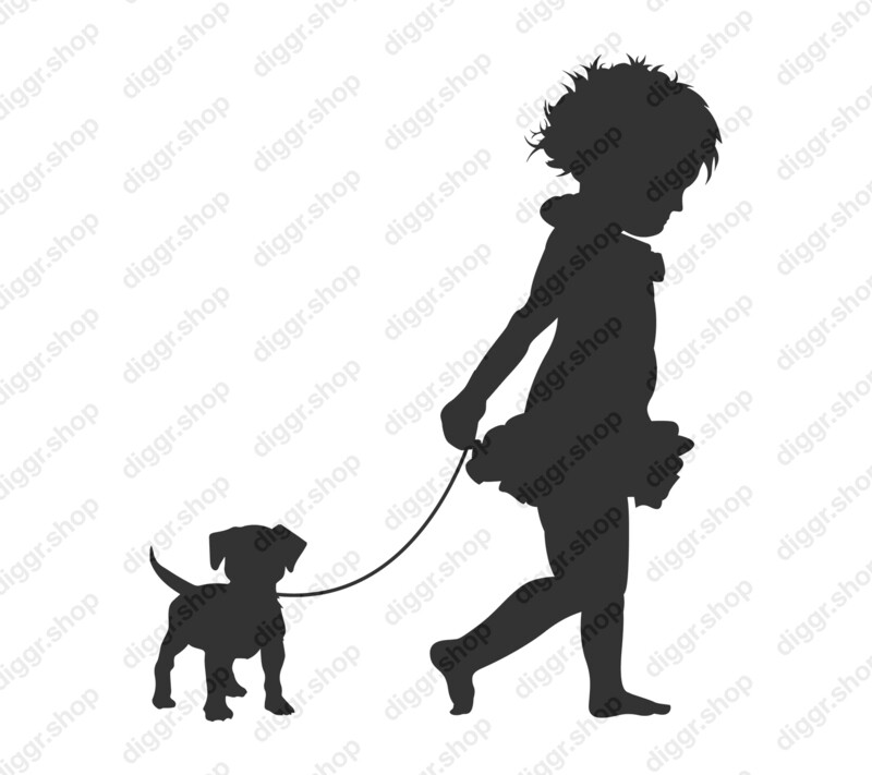 Geboortekaartje Meisje & hond (371)