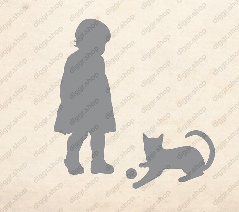 Geboortekaartje Met kat 2 (379)