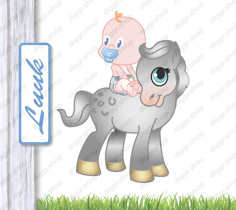 Geboortekaartje Pony 1 (407)