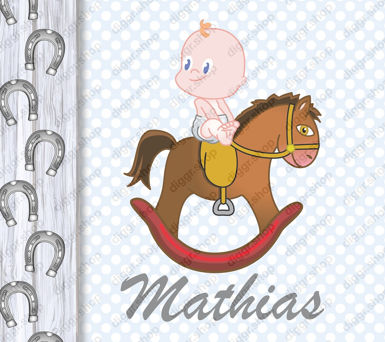 Geboortekaartje Schommelpaard (415)
