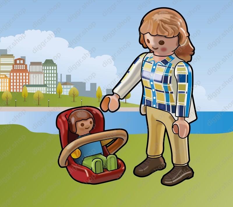 Geboortekaartje Playmobil  Maxicosi (716)