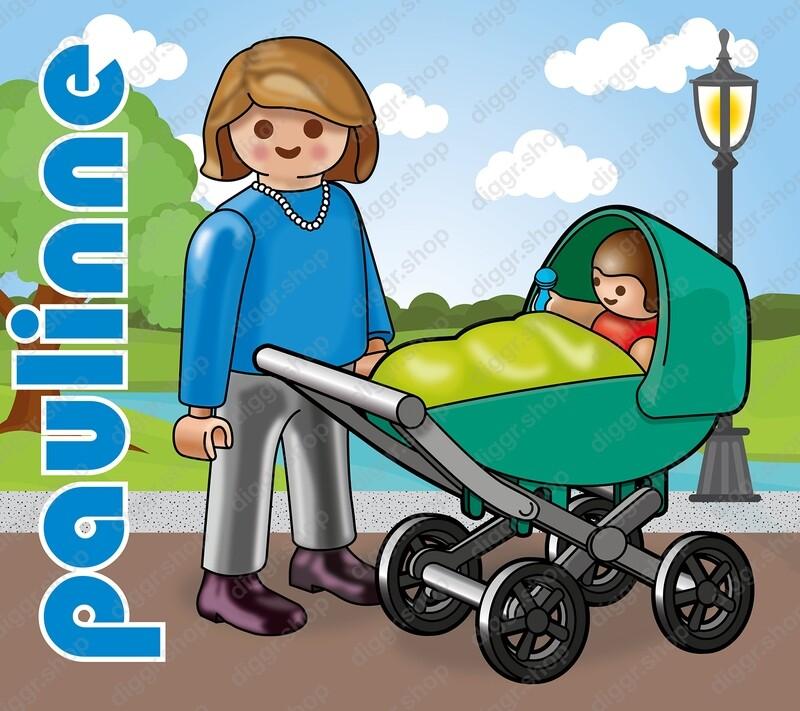Geboortekaartje Playmobil Paulinne 7 (724)