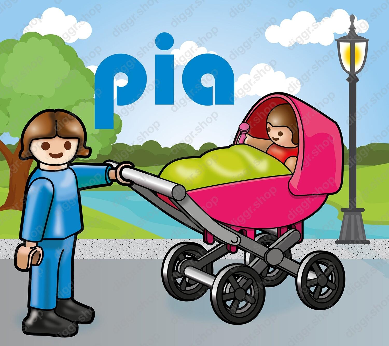 Geboortekaartje Playmobil Paulette 3 (720)