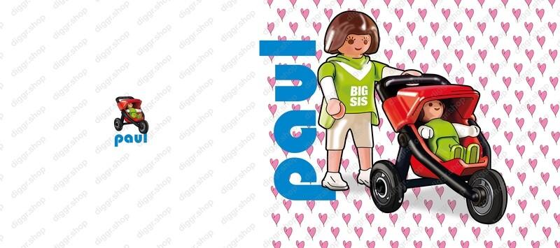 Geboortekaartje Playmobil Pousette 1 (747)