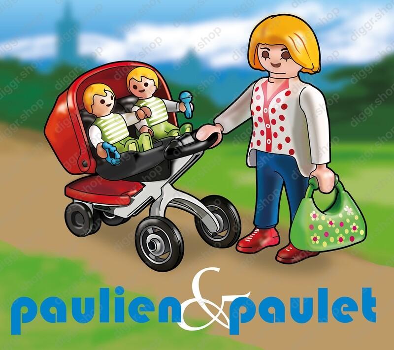 Geboortekaartje Playmobil Tweeling (750)