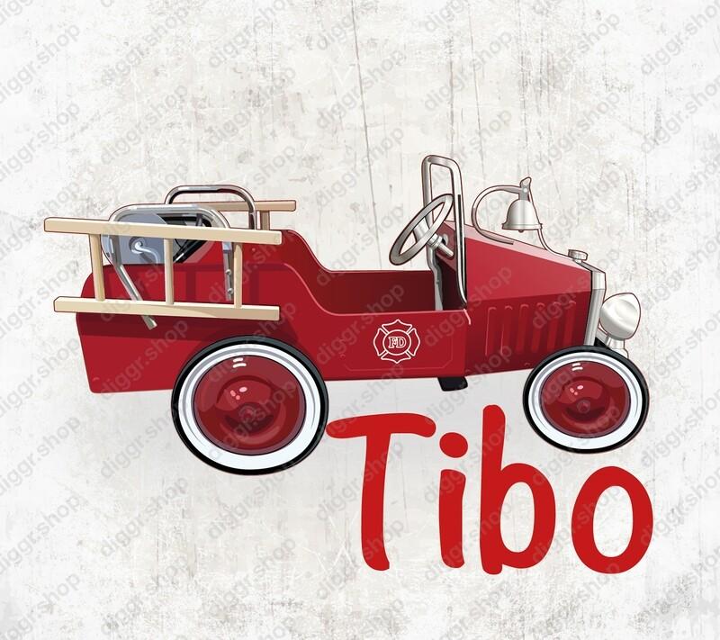 Geboortekaartje Brandweerwagen 101 (19066)