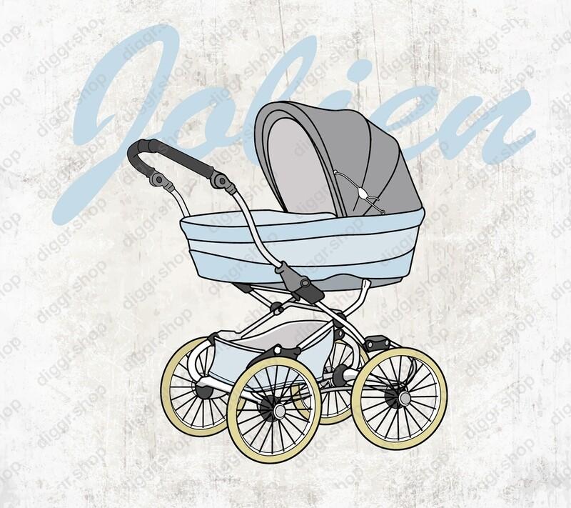 Geboortekaartje Kinderwagen 2 (19104)