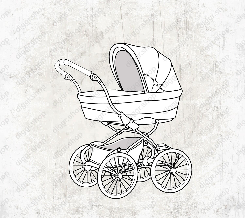 Geboortekaartje Kinderwagen (19103)
