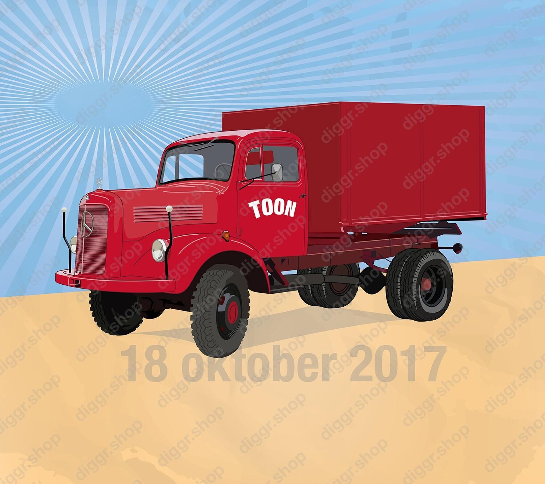 Geboortekaartje Mercedes vrachtwagen (929)