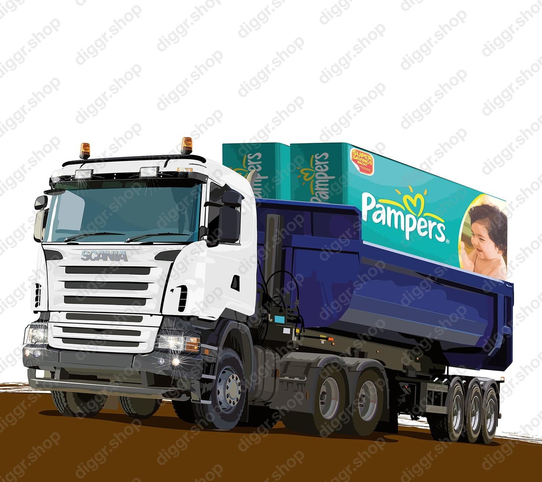 Geboortekaartje Scania / Pampers (947)