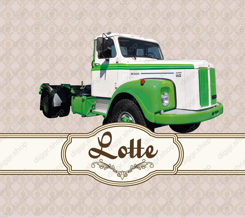Geboortekaartje Scania vintage truck (962)