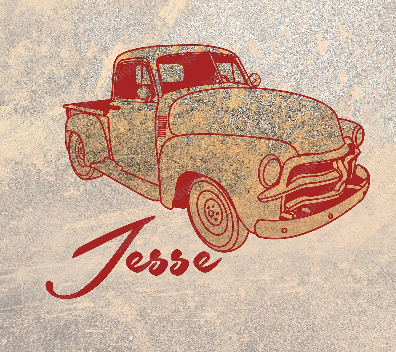 Geboortekaartje Vintage truck (963)