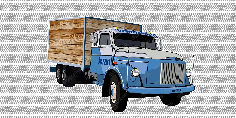 Geboortekaartje Vintage truck (965)