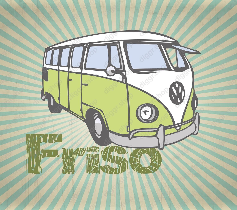 Geboortekaartje VW bus 20 (968)