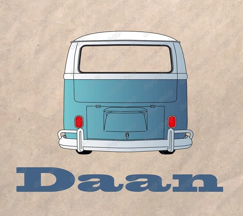 Geboortekaartje VW bus2 (973)