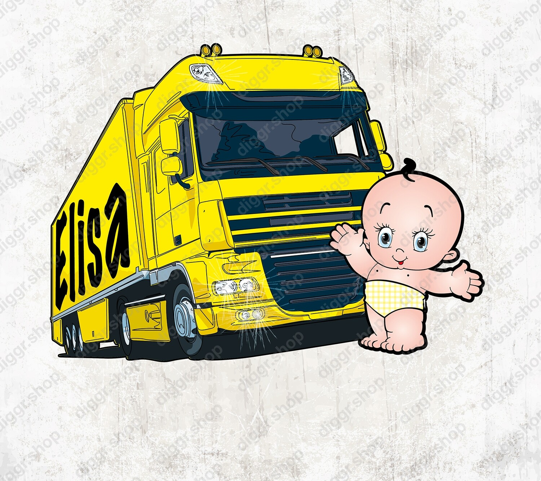 Geboortekaartje DAF geel (2024)