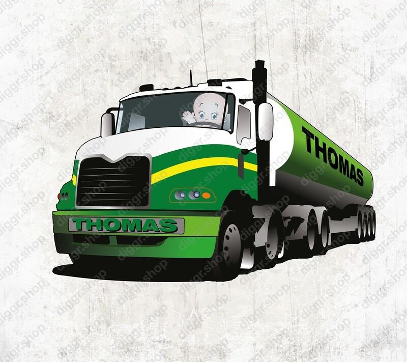 Geboortekaartje BP truck (2023)