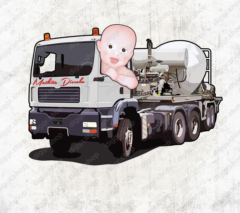 Geboortekaartje MAN betonmixer (2034)