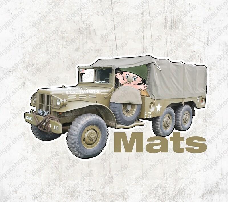Geboortekaartje US Army truck (2059)