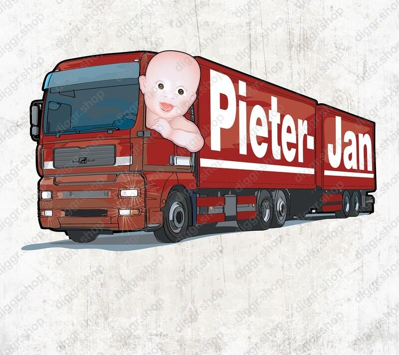 Geboortekaartje MAN truck (2036)