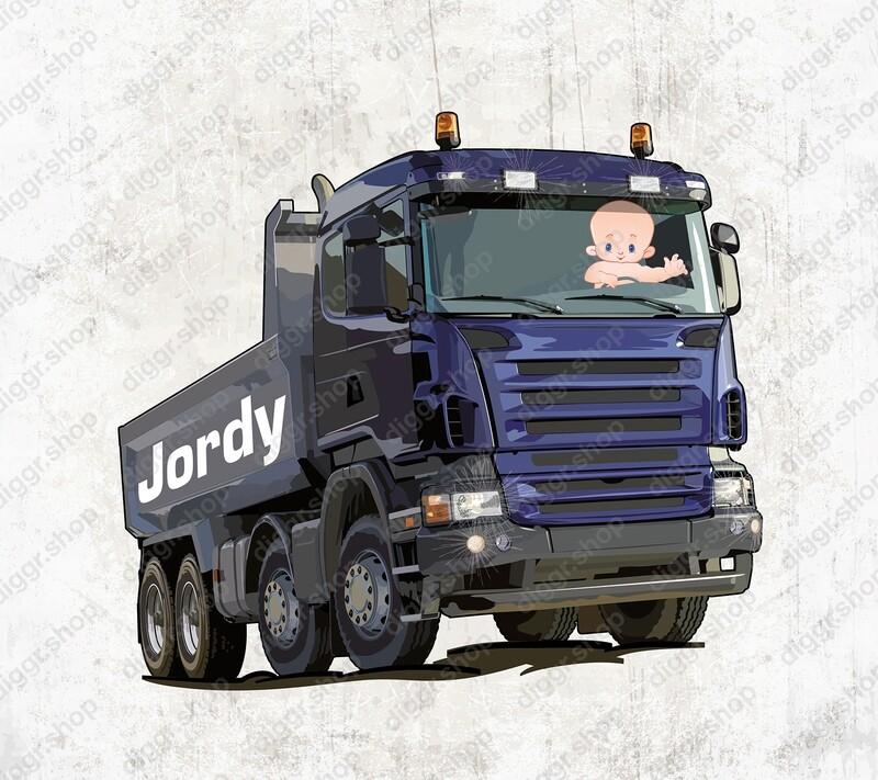 Geboortekaartje Scania grondwerken (2047)