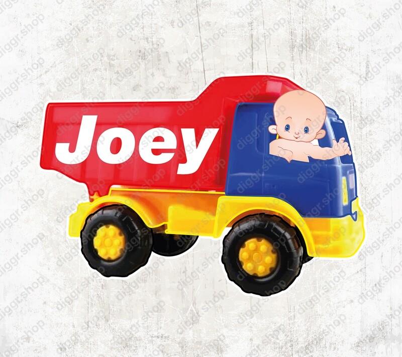Geboortekaartje Speelgoed vrachtwagen (2054)