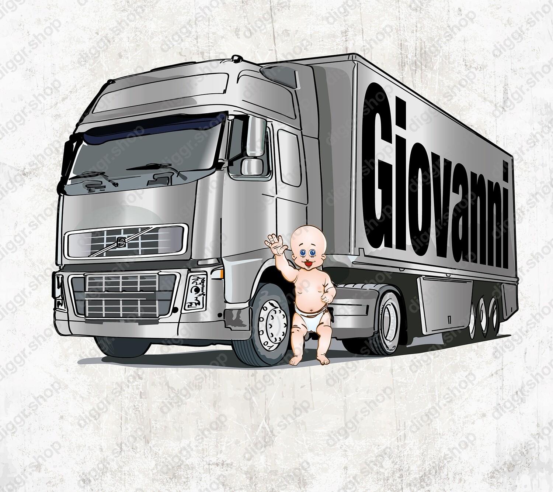 Geboortekaartje Scania zilver (2051)