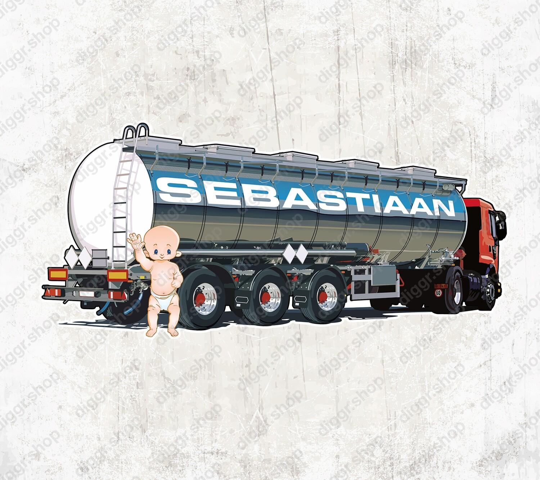 Geboortekaartje Tankwagen (2058)