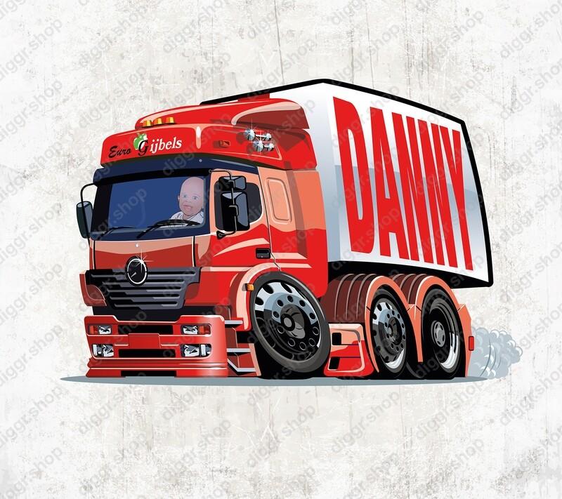 Geboortekaartje Vrachtwagen Euro Gijbels (2140)
