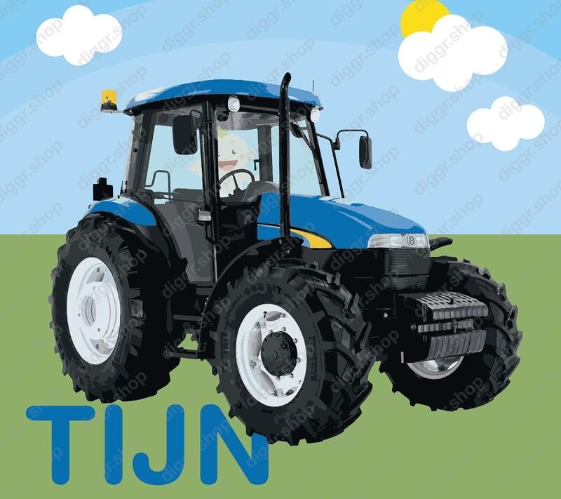 Geboortekaartje Playmobil Tractor 10 (819)
