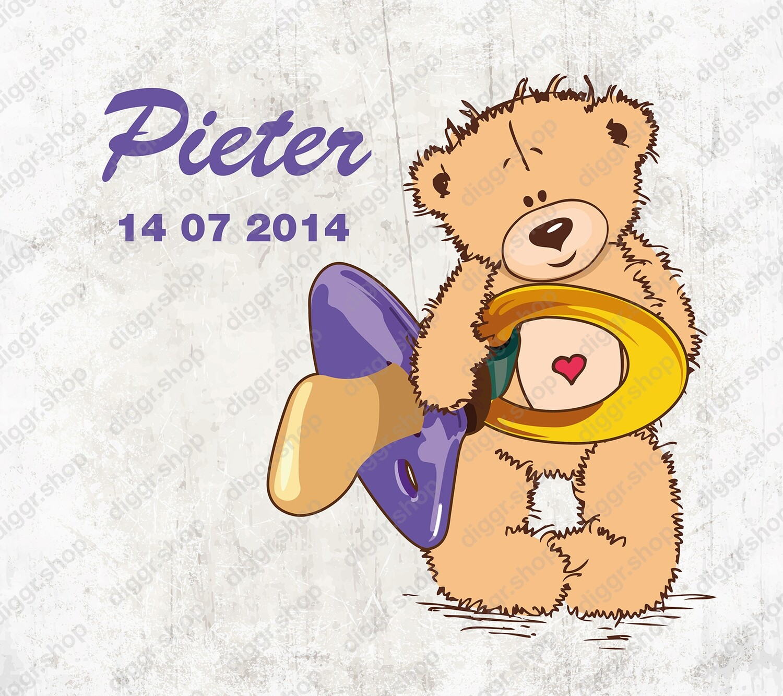 Geboortekaartje Cute Teddy Bear 01 (1975)