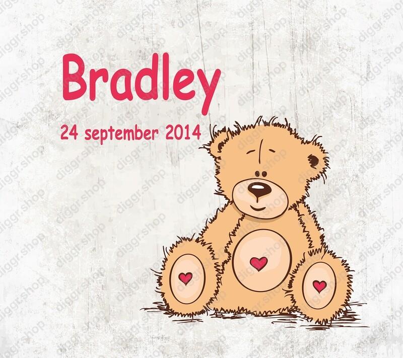 Geboortekaartje Cute Teddy Bear 03 (1976)