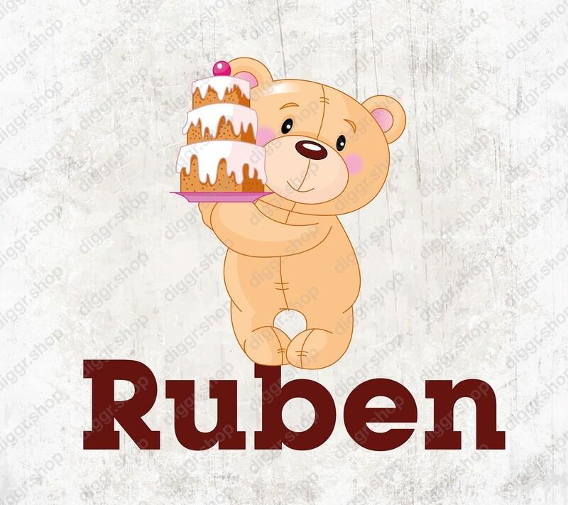 Geboortekaartje Teddybear 22 (1982)