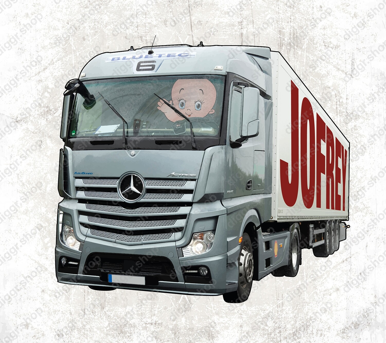 Geboortekaartje Mercedes Actros (2020)