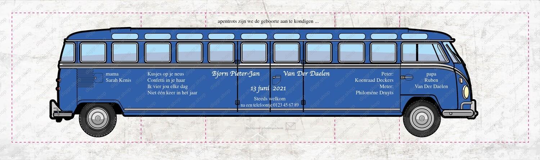 Geboortekaartje VW T1 lang (16320)