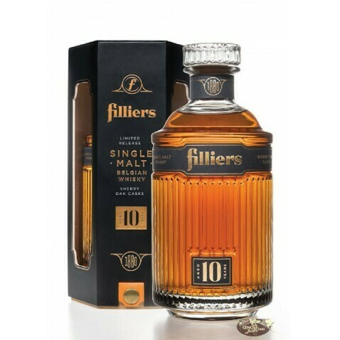 Filliers Single Malt Belgian Whisky 10 Years Old Sherry Cask 43% 70CL