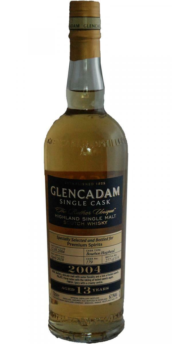 Glencadam 2004 Cask 179 Premium Spirits 62.1% 70CL